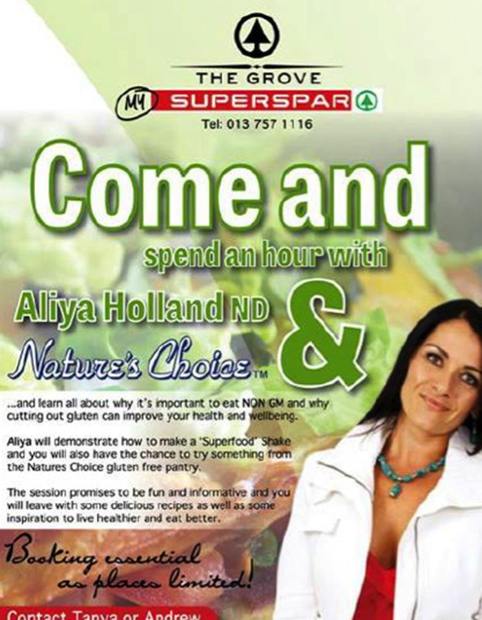 SuperSpar – An hour with Aliya Holland and Natures Choice